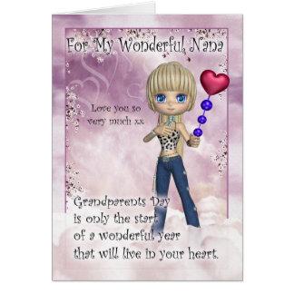 Nana, cartão do dia das avós - sagacidade bonito