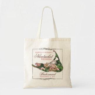 Nantucket que Wedding a sacola floral da dama de Bolsa Tote