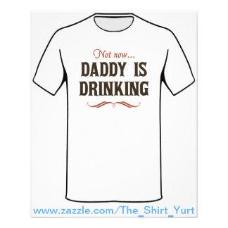 Não agora o pai está bebendo modelo de panfleto