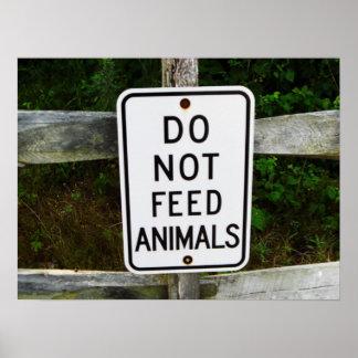 Não alimente a animais o impressão