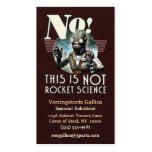 NÃO cartão de visita da astronáutica