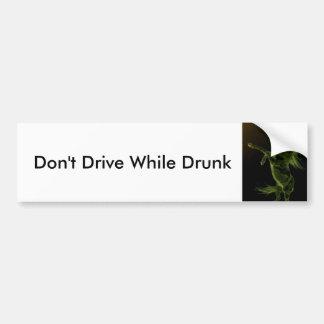Não conduza cavalo bêbedo que eleva o autocolante