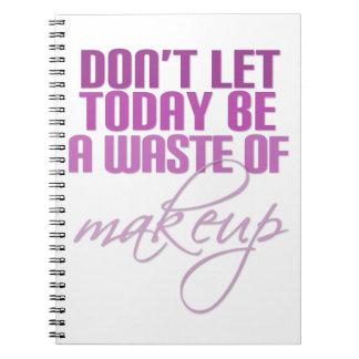 Não deixe hoje para ser um desperdício da caderno espiral