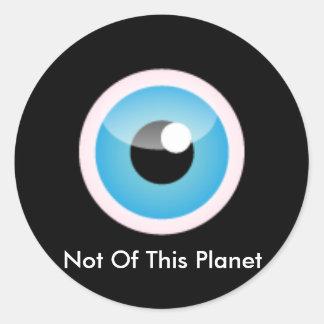 Não deste logotipo do planeta adesivo
