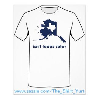 Não é bonito de Texas comparado a Alaska Flyer 11.43 X 14.22cm