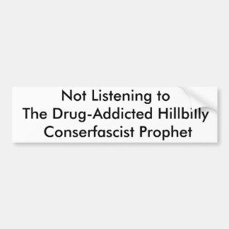 Não escutando o Hillbilly Droga-Viciado Co… Adesivo Para Carro