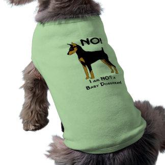 Não, eu não sou um Doberman do bebê! Camisa Sem Mangas Para Cachorro