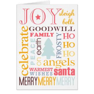 Não-foto colorida do cumprimento do Natal do feria Cartões