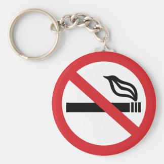 Não fumadores chaveiro
