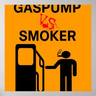 Não fumadores engraçados Remix posters da seguranç