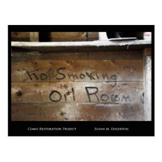 Não fumadores na sala do óleo no depósito de Como Cartão Postal