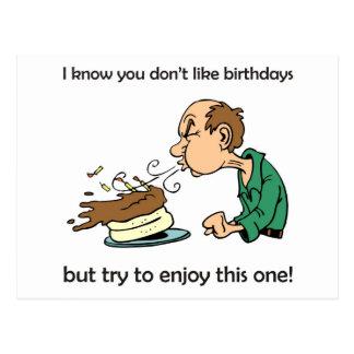 Não goste/aniversários do ódio? Aniversário da Ida Cartao Postal