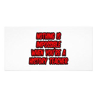 Não há impossíveis… professor da história cartões com fotos
