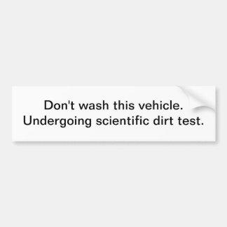 Não lave este veículo - autocolante no vidro trase adesivo para carro