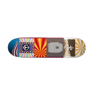Não mais guerra shape de skate 21,6cm