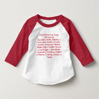Não me diga para ser resistente… camiseta