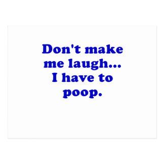 Não me faça rir-me têm que tombadilho cartao postal