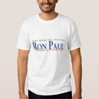 Não me responsabilize… t-shirt
