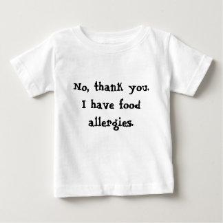 Não, obrigado. Eu tenho alergias de comida Camisetas