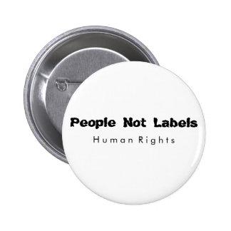 Não pessoas do botão das etiquetas bóton redondo 5.08cm