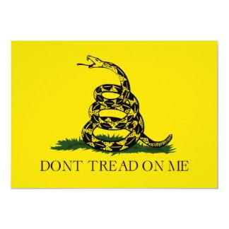 Não pise em mim a bandeira americana de Gadsden Convite 12.7 X 17.78cm