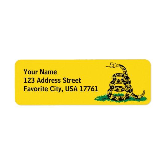 Não pise em mim etiquetas de endereço etiqueta endereço de retorno