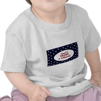 Não pode CONFIAR estrelas azuis liberais O MUSEU Z Camisetas