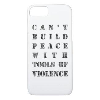 Não pode construir a paz com as ferramentas da capa iPhone 8/7