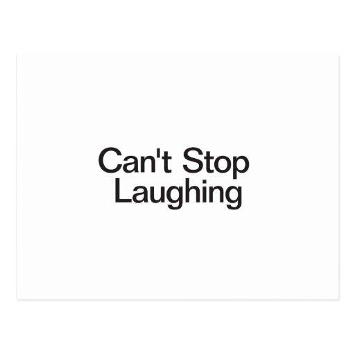 Não pode parar de rir cartões postais