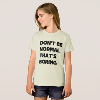 Não seja Tshirt americano do roupa das meninas