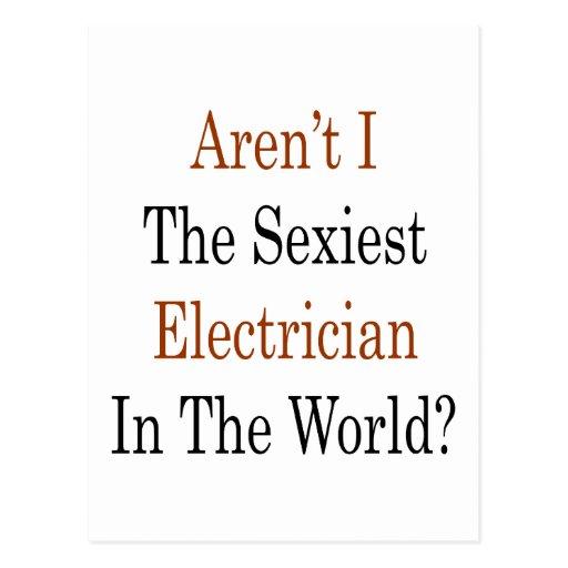 """Não sou eu o eletricista o mais """"sexy"""" no mundo cartao postal"""