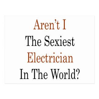 Não sou eu o eletricista o mais sexy no mundo cartão postal