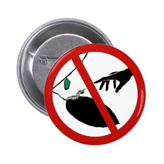 Não toque em lagartas (1), sinal, Califórnia, E.U. Boton