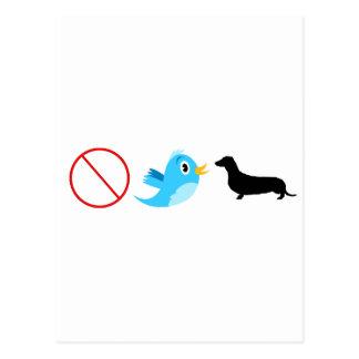 Não tweet seu Wiener Cartão Postal