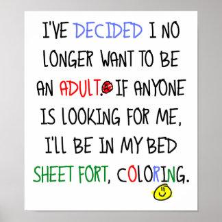 Não um poster engraçado adulto