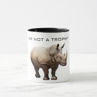 Não uma caneca do troféu do rinoceronte