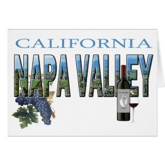 Napa Valley, CA Cartão
