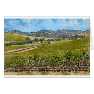 Napa Valley Califórnia Cartão Comemorativo