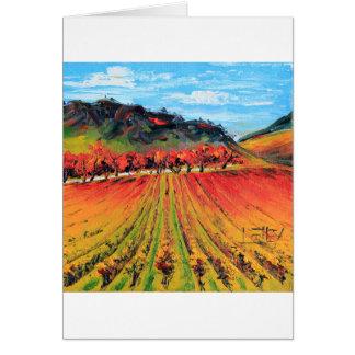 Napa Valley por Lisa Elley Cartão Comemorativo