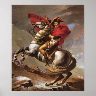 Napoleon cruza a passagem de St Bernard por David Poster