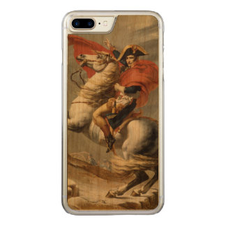 Napoleon que cruza os cumes por Jacques Louis Capa Para iPhone 7 Plus Carved