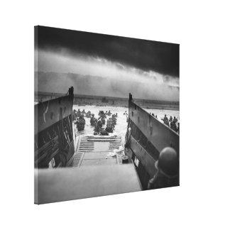 Nas maxilas da segunda guerra mundial Omaha da mor Impressão Em Tela