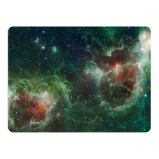 NASA infravermelha do mosaico das nebulosa do Convite 16.51 X 22.22cm