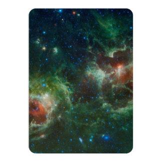 NASA infravermelha do mosaico das nebulosa do Convite 11.30 X 15.87cm