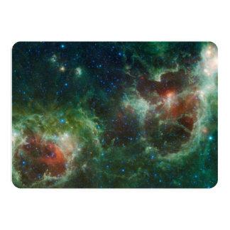 NASA infravermelha do mosaico das nebulosa do Convite 12.7 X 17.78cm