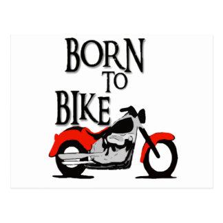 Nascer à bicicleta cartão postal