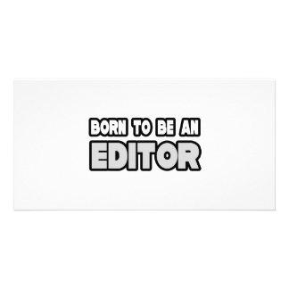 Nascer a ser um editor cartao com fotos personalizado