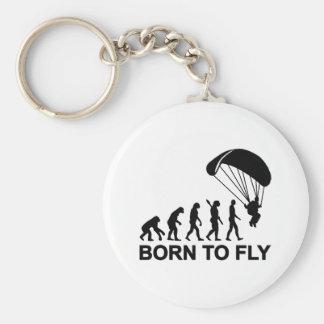 Nascer de Skydiving da evolução a voar Chaveiro