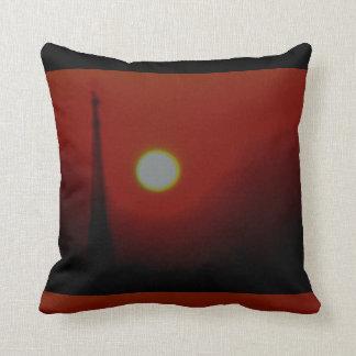 Nascer do sol carmesim gráfico travesseiros de decoração