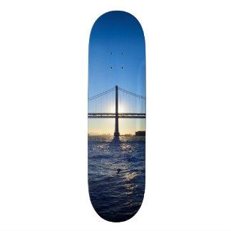Nascer do sol da ponte de San Francisco Bay dos Shape De Skate 20cm